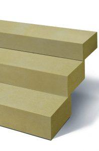Blockstufen in goldgelb, klassisch.