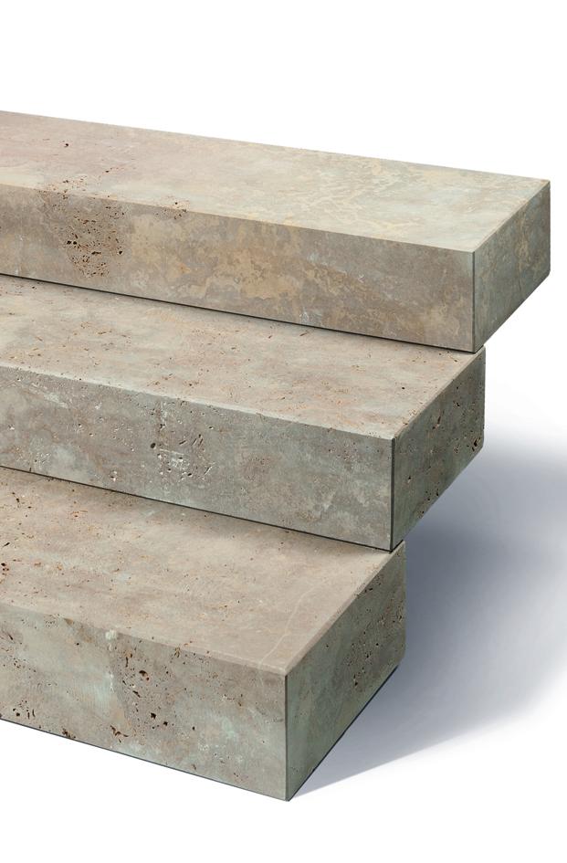 Blockstufe Noce Torosa braun meliert, marmor ähnlich
