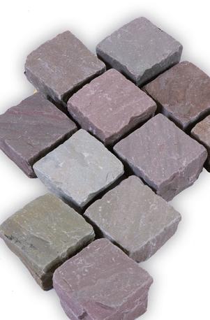 Pflastersteine Bolero rötlich braun und grau