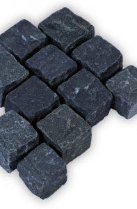 Pflastersteine echt schwarz Nero India