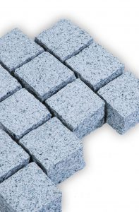 kalt blau grau pflastersteine