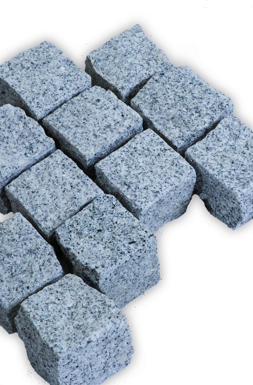 kalt grau blau Pflastersteine Bravo gespalten Rustique