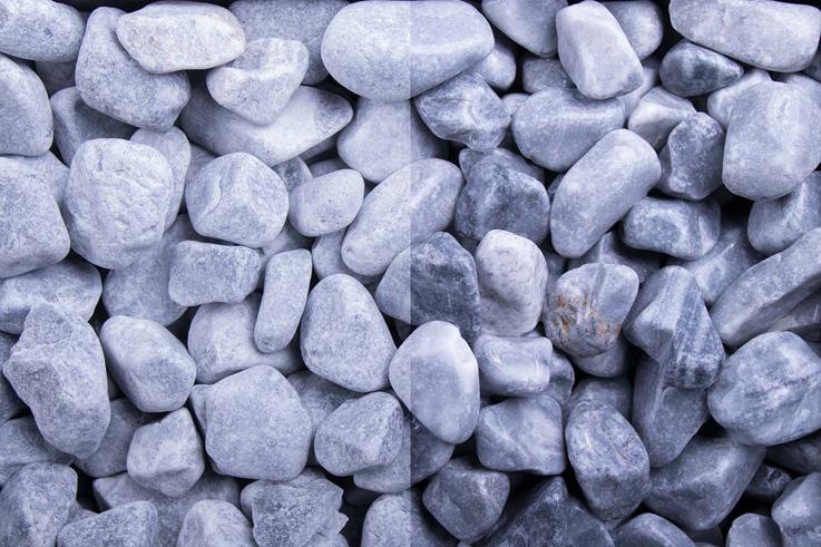 Kristall Blau 16-25 getrommelt