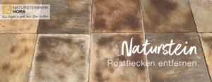 Rostflecken von Natursteinen entfernen