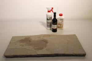 Rotweinflecken von Naturstein entfernen