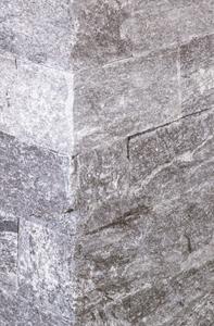Mauerstein Aosta: Mausgrau mit hellen striemen