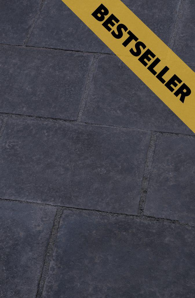 Terrassenplattenstein Sanoku: warmes schwarz anthrazit