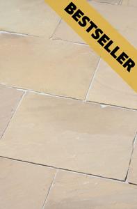 Terrassenplattenstein Mandra: Beige Gelb Sandfarben freundlich