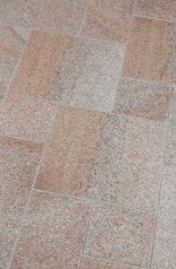 Terrassenplattenstein Sol: rötlich braun melierter Stein