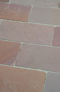 Modac Natursteinplatte Boden Terrasse in rotbraunen Farben