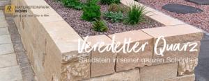 Sandstein Gestein: Edel im Garten. Mediterran