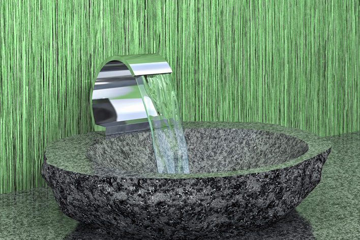 Aufsatz Naturstein Waschbecken Ambiente Spa schön natürlich