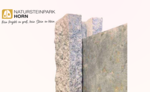 Walltaco Steinplatte im Granitpfosten Schuber Nahaufnahme