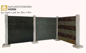 Walltaco Steinplatten und Granitpfosten Beispiele