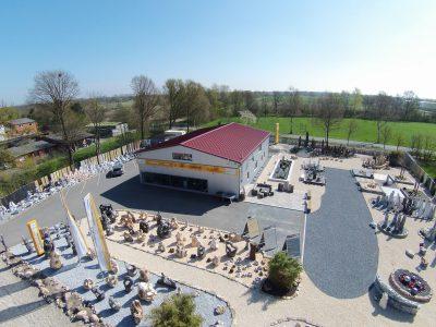 Der Natursteinpark Horn im Jahr 2020 aus der Vogelperspektive