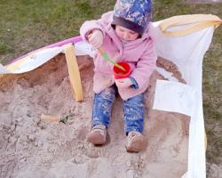 Sand im Big Bag zum Spielen