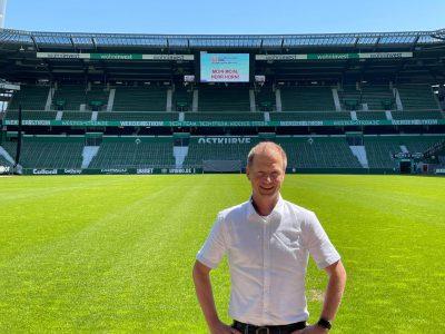 Mirco Horn im Stadion SV Werder Bremen.